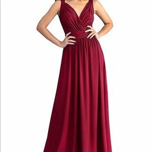 Crimson Red bridesmaids/prom dress